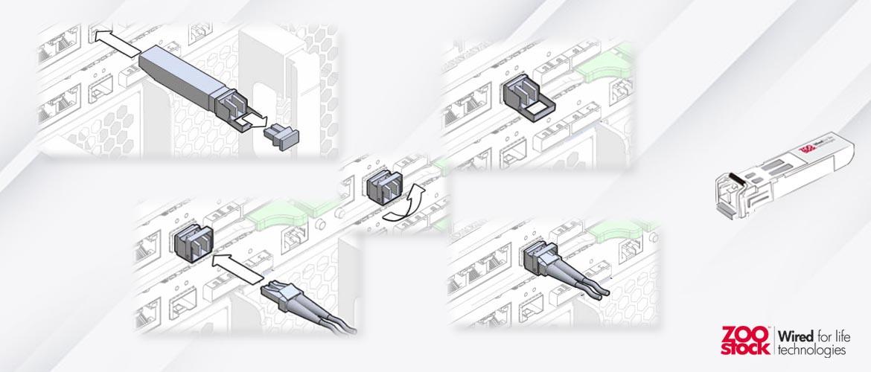 Cómo instalar transceptores SFP 1G